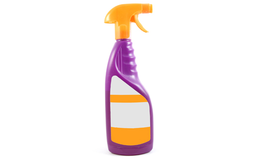 Chemie Etikette, Reinigung Produkt