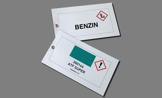 bedruckte Anhänge Etikette