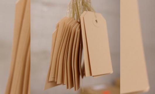 Anhänge Etikette, Karton Etikette