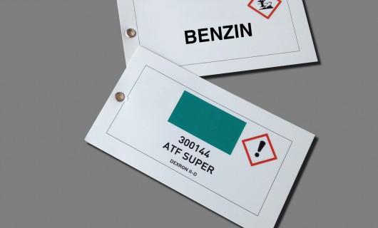 Kunststoff Etiketten mit Loch